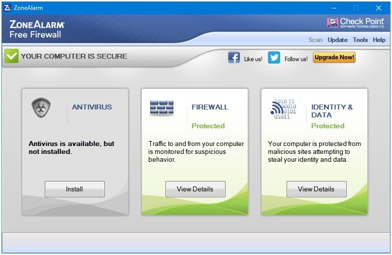 Best Free Firewall For Windows - ZoneAlarm Free Firewall